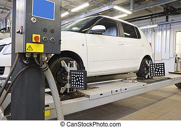 auto, in, a, reparieren garage