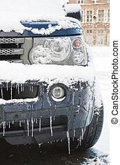 auto, in, winter
