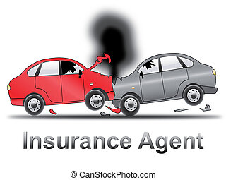 Auto Insurance Agent Shows Car Policy 3d Illustration - Auto...