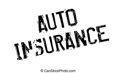 Auto Insurance rubber stamp. Grunge design with dust scratches. Effects can be easily removed for a clean, crisp look. Color is easily changed.