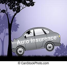 Auto Insurance Shows Car Policies 3d Illustration
