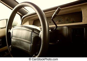 auto, interior.