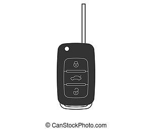 Auto key icon vector. Car keys symbol flat design.