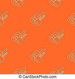 Auto key pattern vector orange for any web design best