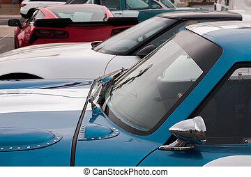 auto, klassisch, details, sport