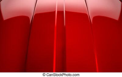 auto, kontur, rote kirsche