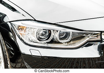 auto, lampe, scheinwerfer