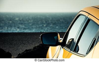 auto, landschaftsbild