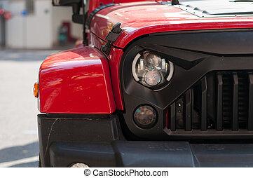 auto- licht, front