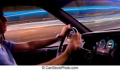 auto- licht, spuren, 2, -, treiber