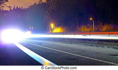 auto, lichten, benaderen