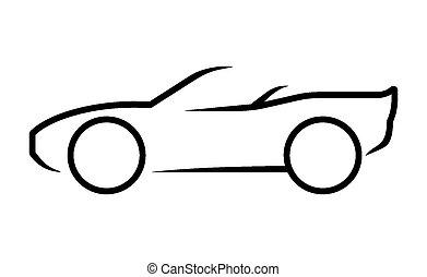auto, lijnen kunst