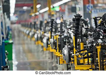 auto, linie, produktion