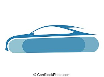 Auto logo with blue background