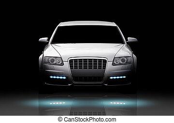 auto, luxe, vrijstaand
