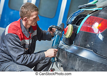 auto mechanic buffing car autobody - Auto body repairs....