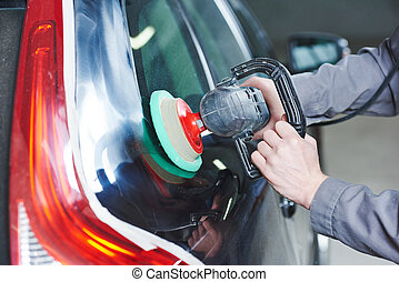 auto mechanic buffing car autobody - Auto body repairs....