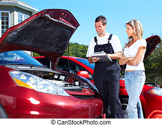 Auto mechanic - Handsome mechanic working in auto repair ...