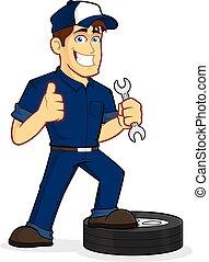 Auto Mechanic - Clipart picture of an auto mechanic cartoon...