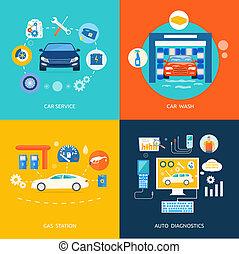 Car service car wash gas station auto diagnostics - Auto...