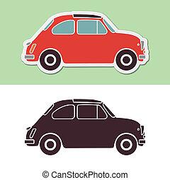 auto, mode, oud, italiaanse