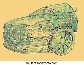auto, model
