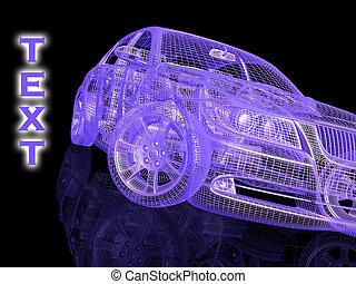 auto, modell