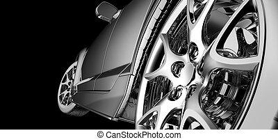 auto, modell, design