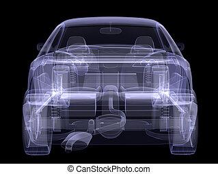 auto, modell, schwarz, röntgenaufnahme
