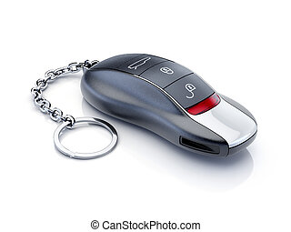 auto, modern, sport, freigestellt, schlüssel