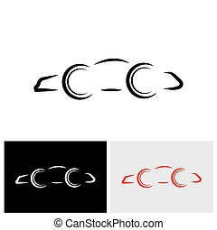 auto, moderne, dag, vector, auto, logo, of, pictogram