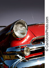 auto, muskel, rotes