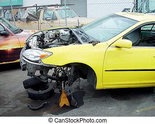 auto, na, ongeluk