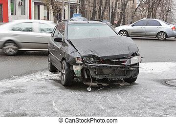 auto-ongeluk, stad