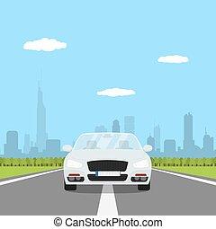 auto, op de straat