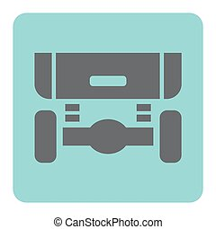 auto, ophanging, pictogram