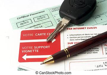 auto, organise, assurance