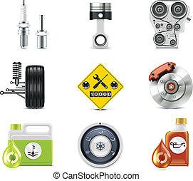 auto, p.3, dienst, icons.
