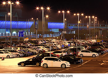 auto park, nacht