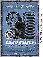 Auto parts store, vehicle restoration