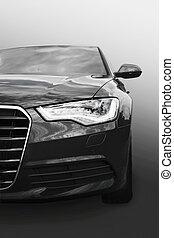 auto, prestige, schwarz, freigestellt