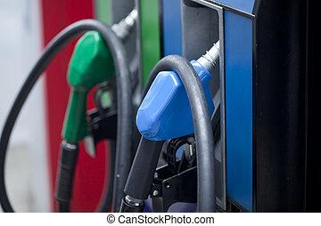auto, pumpe, gas, nachfüllen