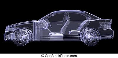 auto, röntgenaufnahme