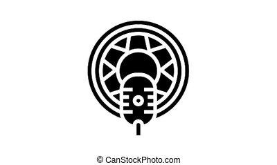auto radio animated glyph icon. auto radio sign. isolated on white background
