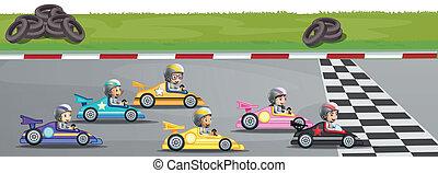 auto rennen, konkurrenz