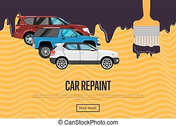 Auto, begriff, ausfälle, leute. Stehende , reparatur, begriff ...