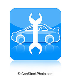 Auto repair icon - Auto repair and tuning icon isolated on...
