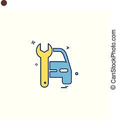 auto repair icon vector design