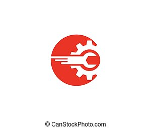 Auto repair logo vector