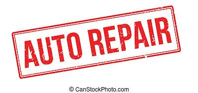 Auto Repair rubber stamp on white. Print, impress,...
